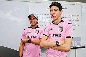 Galeri: Duo pembalap Force India pakai baju bola tim Palermo