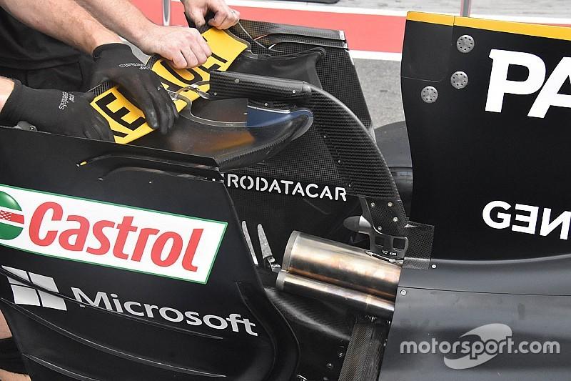 Renault: l'ala posteriore con il profilo a... banana