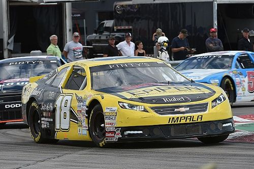 Alex Tagliani wins the NASCAR Pinty's race at Toronto Indy