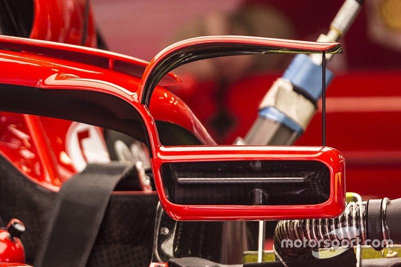 """フェラーリ、スペインGPで""""ハロ搭載""""のリヤビューミラーを試す"""