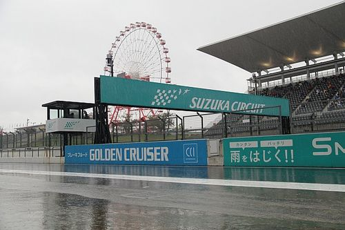 スーパーフォーミュラ最終戦鈴鹿、公式予選は開始直後の豪雨で赤旗中断