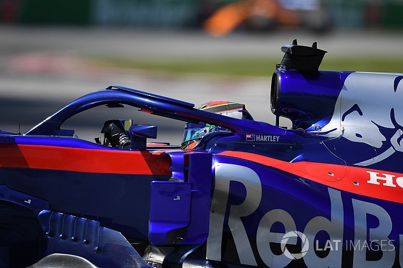 Hartley ongedeerd na crash met Stroll in GP van Canada