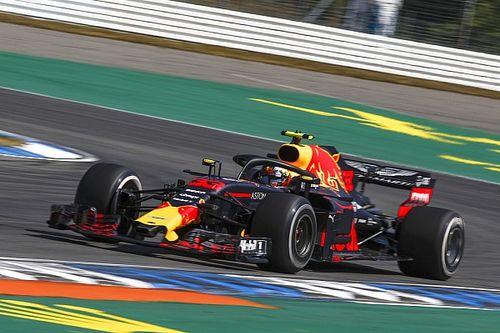 F1初!? フェルスタッペン、ホッケンハイム1コーナーをアクセル全開で通過