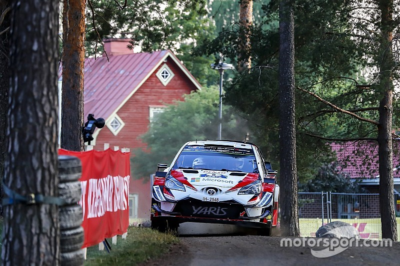 Finland WRC: Tanak sees off Ostberg to end Friday top