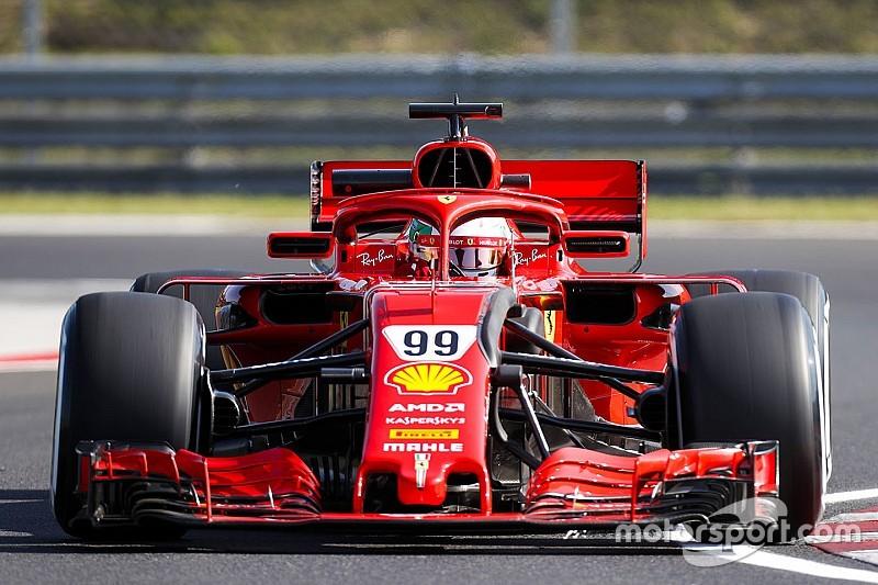 Джовинацци на Ferrari стал быстрейшим по итогам половины первого тестового дня в Венгрии