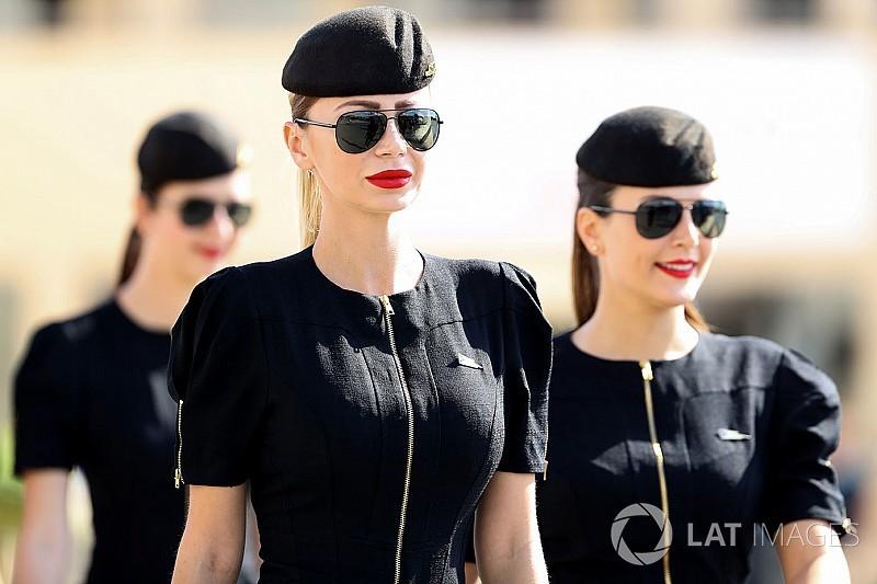 Grid girls abrilhantam fim da temporada da F1 em Abu Dhabi