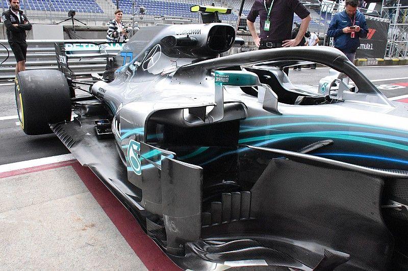 Mercedes lanza una gran actualización en el GP de Austria