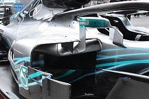 Mercedes: perché il supporto aero dello specchietto è legale e quello Ferrari no?