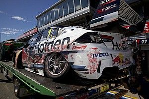 Crashed Whincup Holden set for overnight repair