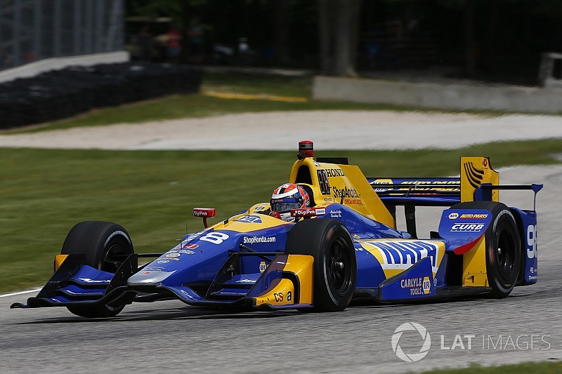 Road America IndyCar: Rossi leads opening practice