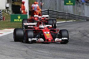 """A Vettel le faltó """"confianza"""" al final de la carrera"""