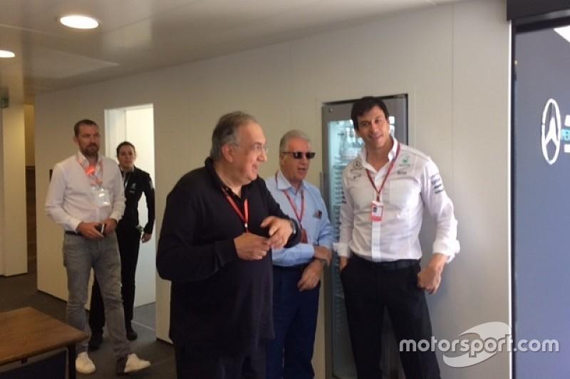 Marchionne all'Hungaroring fa subito visita alla Mercedes