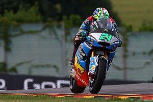【Moto2】ドイツ予選:雨に適応のモルビデリがポール。中上25番手