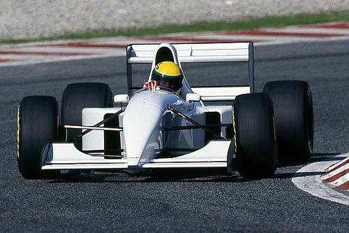 Ganz in Weiß: Als Senna einen McLaren-Lamborghini testete