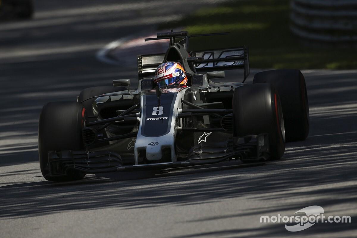 Grosjean nézetéből Sainz látványos becsapódása: kiakadt a francia (videó)