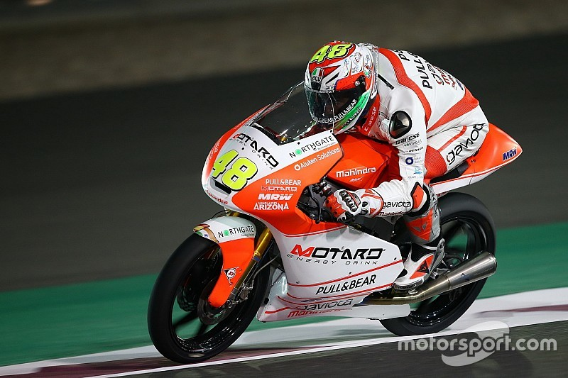 Mahindra hurt by 'bad grid position' in Qatar Moto3