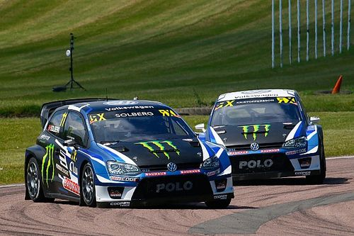 Lydden WRX: Solberg wins as Ekstrom suffers puncture