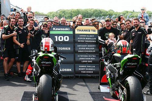 Kawasaki passe le cap des 100 victoires en WSBK