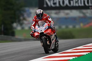 MotoGP Practice report Austria MotoGP: Dovizioso tops drying second practice