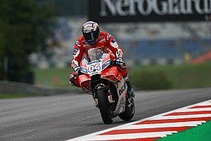 【MotoGP】豪雨後のオーストリアFP2、トップはドビツィオーゾ