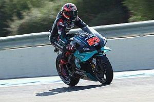 MotoGP, Andalusia: Quartararo nel tris Yamaha, Rossi terzo