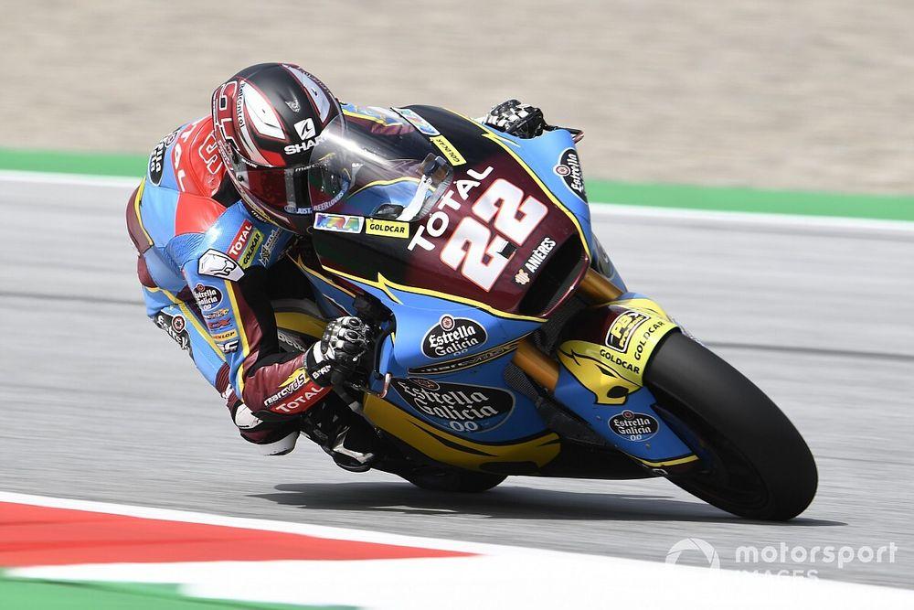 Moto2, Red Bull Ring, Libere 2: Lowes migliora, indietro Bastianini e Marini