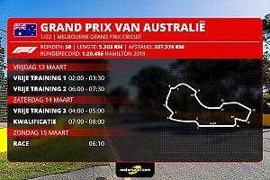 Hoe laat begint de Formule 1 Grand Prix van Australië 2020?
