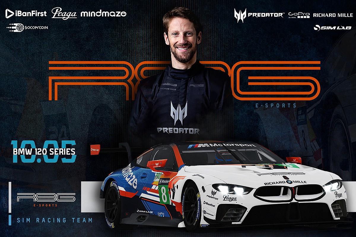 Grosjean w swoim BMW