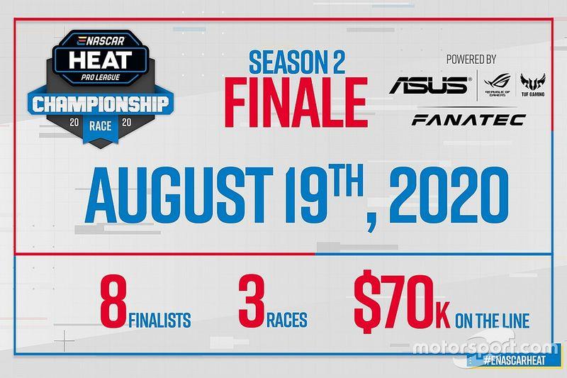 Asus y Fanatec, proveedores de la final de eNASCAR Heat Pro League