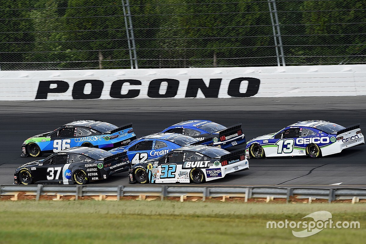 What time and channel is Sunday's Pocono NASCAR race?