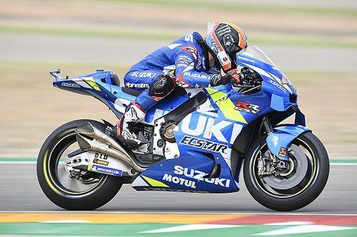 MotoGP, Aragon, Libere 3: Rins azzarda la slick, ma rimane in Q1