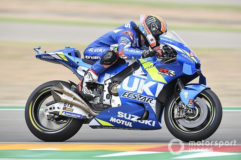 Aragon MotoGP: Rins leads Vinales, Kallio in damp FP3