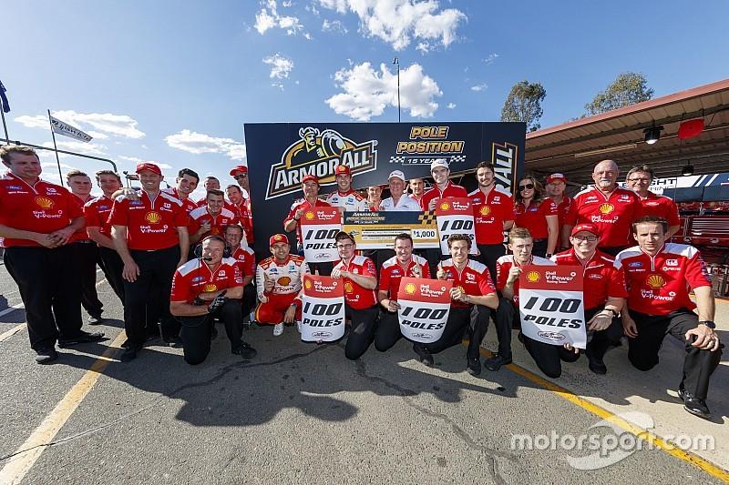 Ipswich Supercars: McLaughlin takes 100th team pole