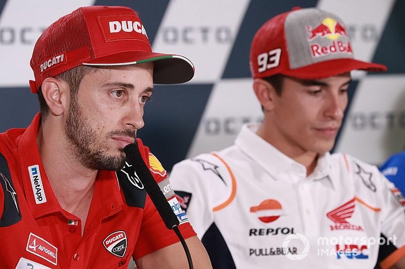 """Dovizioso: """"78 puntos son muchos, y todavía peor si se los tienes que recuperar a Márquez"""""""
