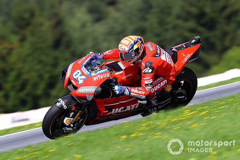 Red Bull Ring MotoGP: Dovizioso pips Marquez to top FP1