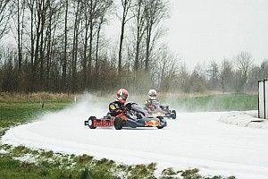 Video: Red Bull-coureurs Verstappen en Gasly karten op ijsbaan