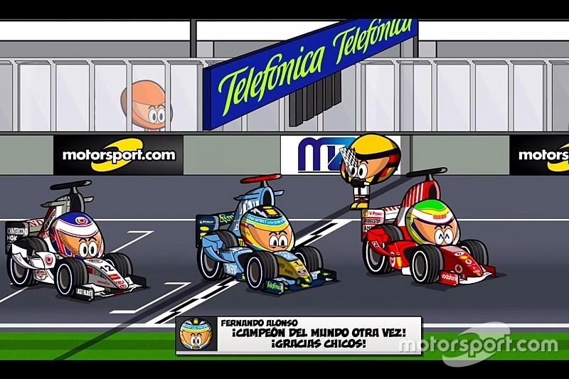 Vídeo: adiós de Schumacher, título de Alonso... el GP Brasil 2006, por MiniDrivers