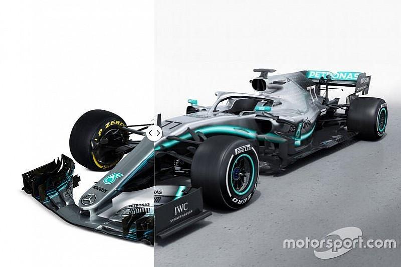 Vergleich Design Formel-1-Autos 2018 vs. 2019: Mercedes