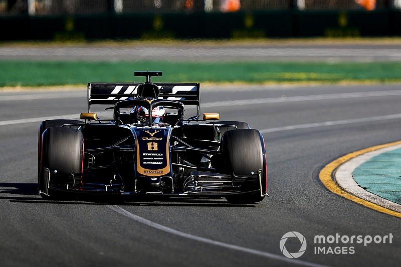 """Une journée """"très normale"""" pour Grosjean et Haas"""