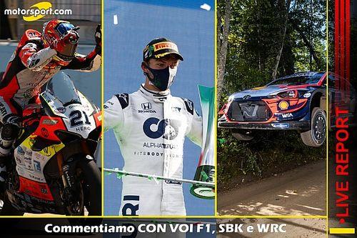 REPORT LIVE: commentiamo con voi F1, SBK e WRC