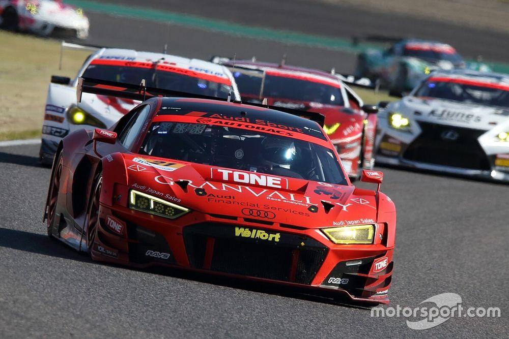 SGT第6戦 GT300決勝レポート:ピットタイミングも奏功し21号車アウディが優勝