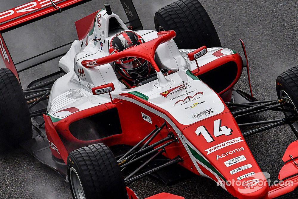 Formula Regional, Imola, Libere 1: Leclerc vola sul bagnato