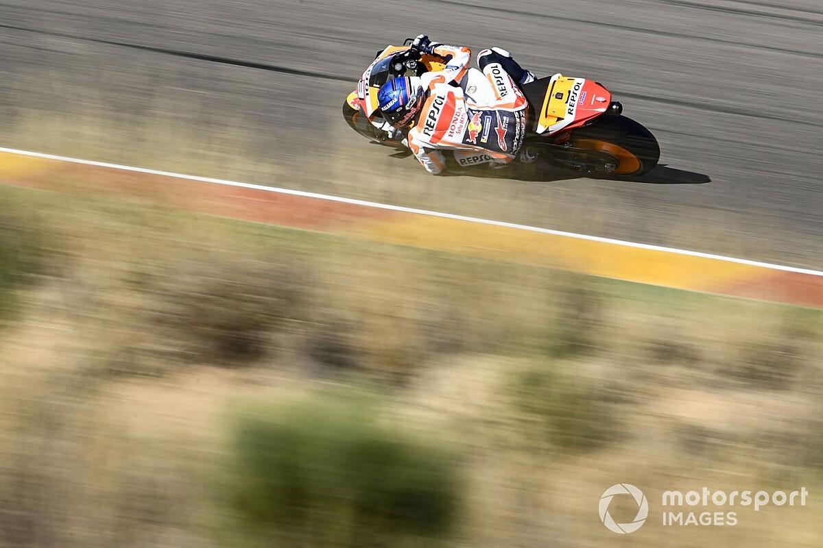 Alex Márquez: el podio no es un objetivo real en Aragón