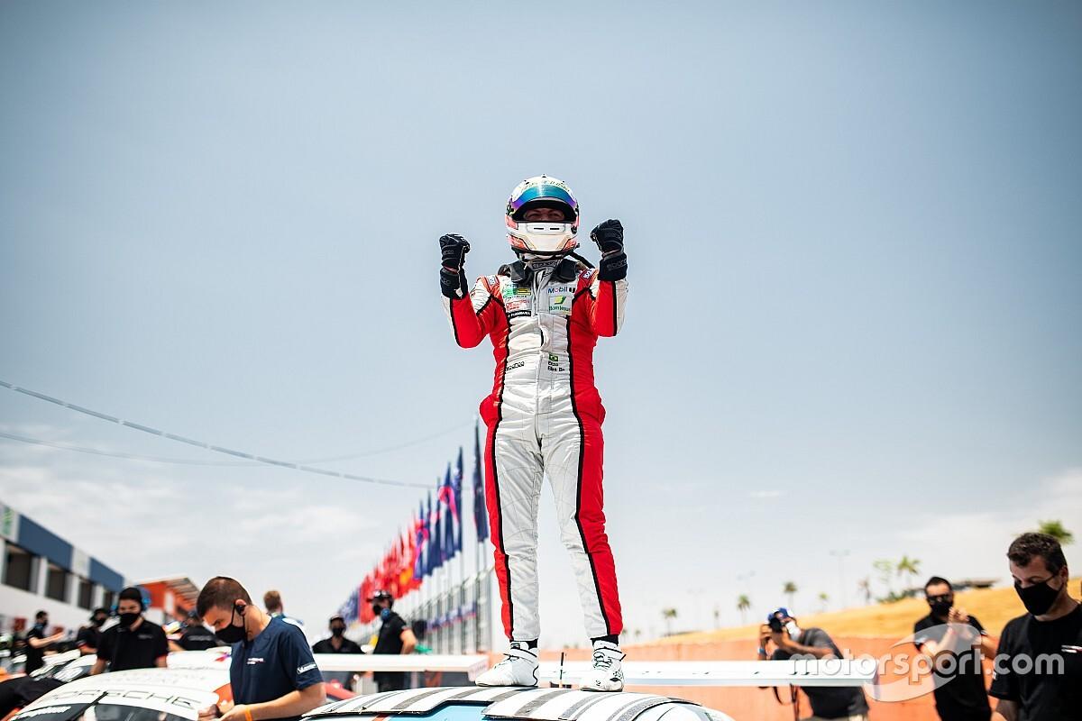 """Porsche Carrera: Enzo Elias comemora primeira vitória: """"não tinha como ser melhor"""""""