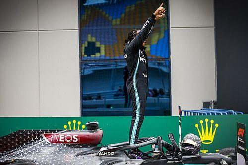 Galeri Foto: Lewis Hamilton Rayakan Titel F1 Ketujuh