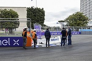Rome E-Prix: Second practice cancelled after kerb breakage