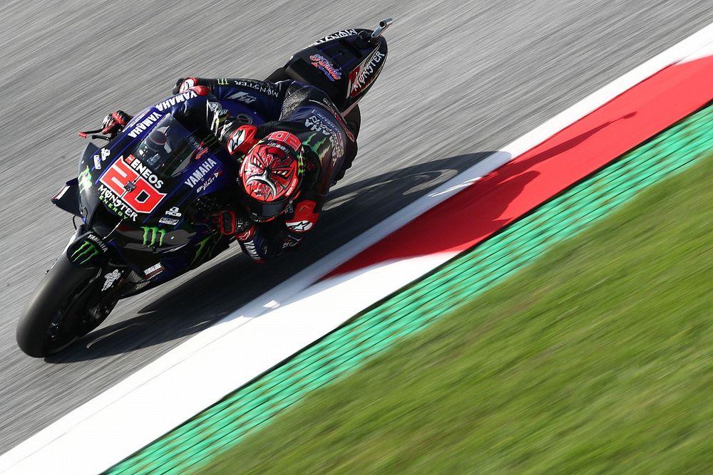 MotoGP, Austria, Warm-Up: Quartararo prova a spaventare le Ducati