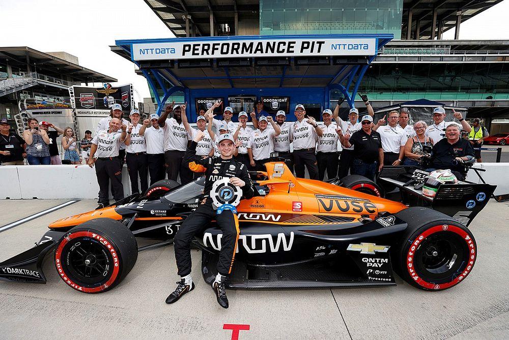 O'Ward gana la pole para la segunda visita al circuito de Indianápolis