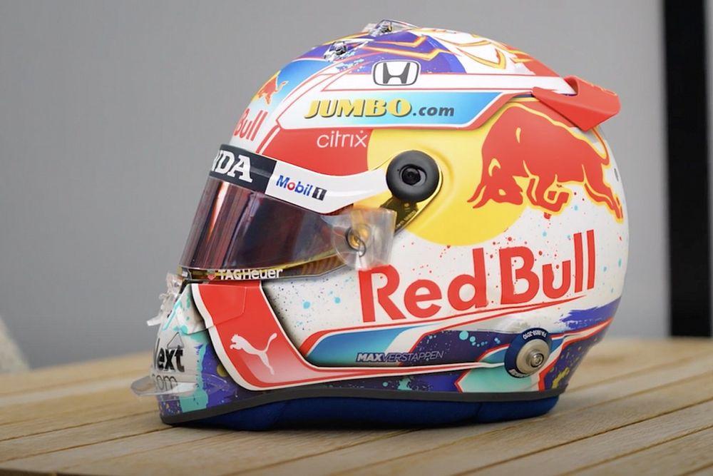 Verstappen onthult speciaal helmdesign voor Dutch GP