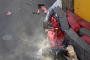 Видео: Леклер разбивает машину в квалификации